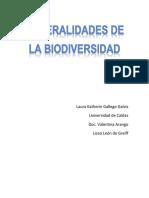 Generalidades de La Biodiversidad