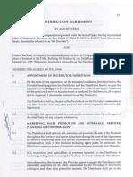 Distribution Agreement Cuervo
