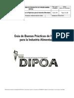 Guía de Buenas Prácticas de Higiénicas para la Industria Alimentaria