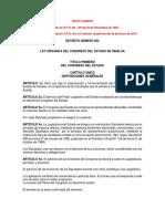 Ley Orgánica del Congreso del Estado de Sinaloa 2014
