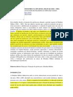 Formacao de Professores Na Ditadura Militar 1964 1985
