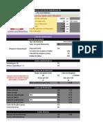 Planilha de custos de impressão 3D
