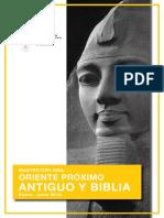 Folleto Master Oriente Próximo Antiguo y Biblia