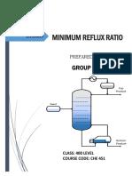 Minimum reflux ratio