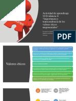 Actividad de Aprendizaje 10 Evidencia 4 Importancia y Trascendencia de Los Valores Eticos Empresariales