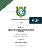plan de tesis sobre evaluacion de bloquetas a base de polimeros pet