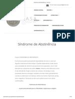 Síndrome de Abstinência – D.a.S.A