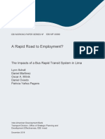 A Rapid Road to Employment the Impacts of a Bus Rapid Transit System in Limaen