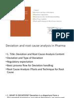 Deviation Presentation