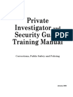 sguards manual security guard private investigator rh scribd com private investigator and security guard training manual (2008) Private Investigator Clip Art