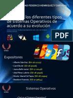Clasificar Los Diferentes Tipos de Sistemas Operativos