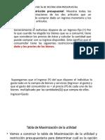 Diapositiva de Recta Presupuestaria