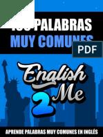Libro 100 Palabras Muy Comunes en Inglés Por English2Me
