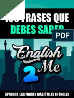 Libro 100 Frases Que Debes Saber en Inglés Por English2Me