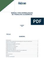 Manual Para Normalizacao de Trabalhos Academicos