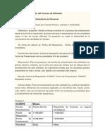 Indicadores de gestión del proceso de admisión