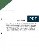 Doc 05 Notas Fiscais Celular e Chips