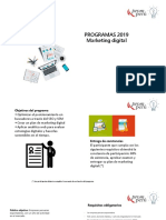 Requisitos Marketing Digital 2019