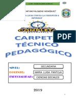 Carpeta Pedagógica Letras 2019