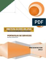 Portafolio de Servicios Metalicas Elpa