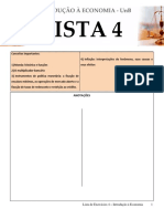 Lista de exercícios de Macroeconomia