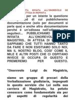 Lettera Aperta a de Magistris in Attesa Di Risposta.