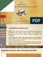 Regulasi Sarana dan Prasarana