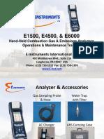 E Instruments E1500 E4500 E6000 Training