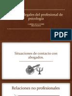 aspectos legales en psicología