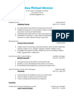 josh abruzzo - resume - 2019
