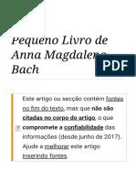 Pequeno Livro de Anna Magdalena Bach – Wikipédia, A Enciclopédia Livre