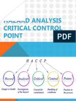 Hazard Analysis Critical Control Point 1