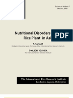 Nutritional Disorders of the of the Rice Plant in Asia (TB10)