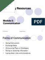 Managing Resources Module 5