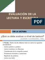 Evaluación de La Lectura y Escritura