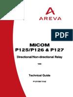 MiCOM P125,126,127 Manual