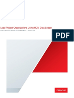 Load Project Organizations Using HCM Data Loader