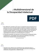 MODELO MULTIDIMENSIONAL DE LA DISCAPACIDAD INTELECTUAL