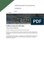 Calibacion Laser PS2 SLIM 90001