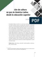 Construcción de Cultura de Paz en América Latina