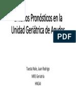 Criterios Pronósticos en La UGA