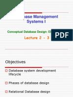 Database Management Systems I