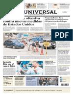 Diario el Universal, Venezuela, 9 de agosto de 2019