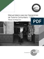 Manual Básico Para La Elaboración de Planes de Negocios Turísticos