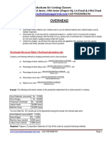 Overheads Revision PDF