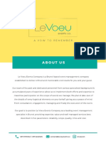 Le Voeu Event Co. Profile (May 2019)