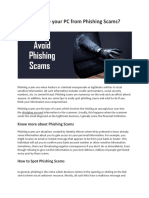 How to Secure Your PC From Phishing Scams