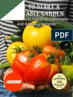 Guide to start a Garden- Vegetable