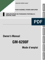 Manual Pioneer GM-6200F
