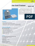 GES-100 Solar Cell Trainer